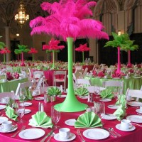 Decor_feathers centerpieces