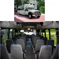 Comfortable luxury seating up to 20 passengers